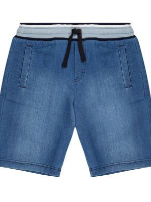 Джинсовые шорты - синие Dolce & Gabbana Kids