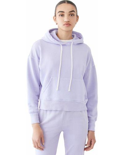 Bluza długa z kapturem bawełniana z długimi rękawami Re/done