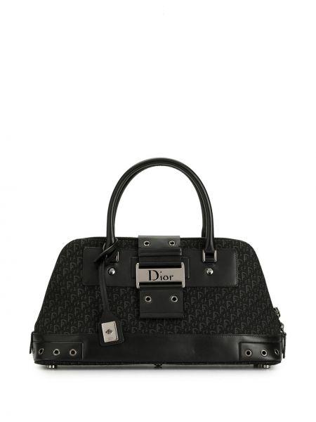 Czarny skórzany torba kosmetyczna Christian Dior