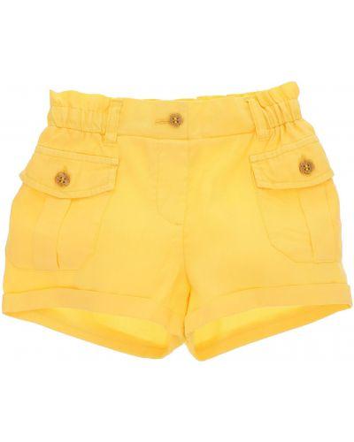Желтые модные хлопковые шорты карго Original Marines