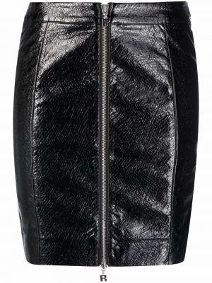 Юбка мини с завышенной талией - черная Rotate