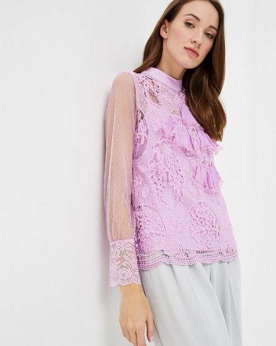 Фиолетовая блузка с поясом Paccio