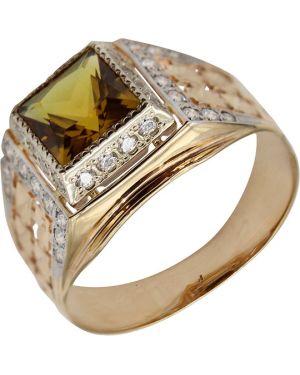 Кольцо с декоративной отделкой из золота маршал
