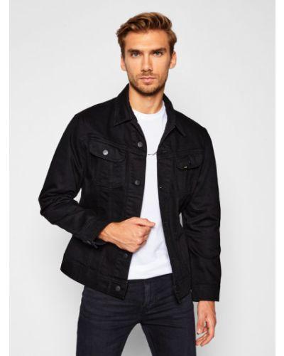 Czarny kurtka jeansowa Lee