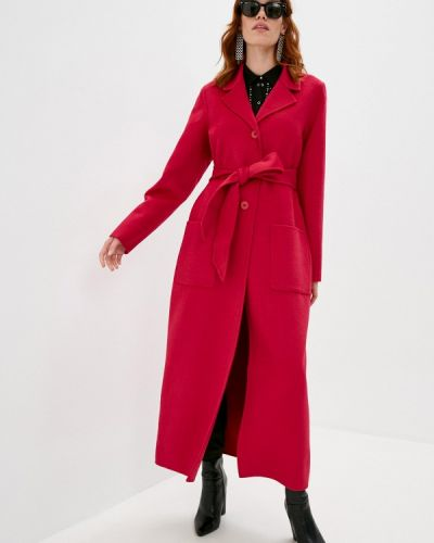 Розовое пальто Twinset Milano