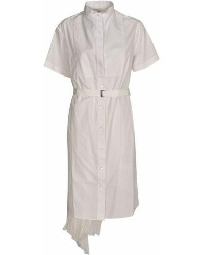 Biała sukienka Sacai