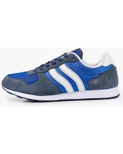 Синие кожаные кроссовки Beppi