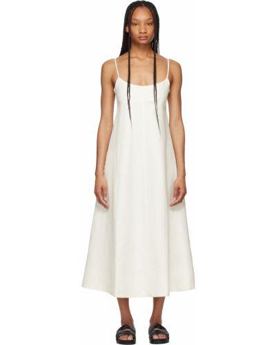 Хлопковое платье макси - белое Toteme