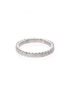 Biały złoty pierścionek Le Gramme