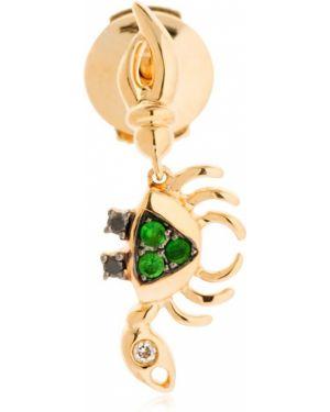 Czarne złote kolczyki ze złota z diamentem Yvonne Leon Paris