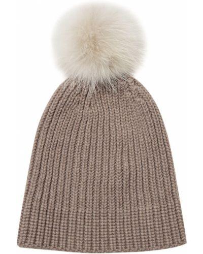 Вязаная шапка с помпоном шерстяная Naumi