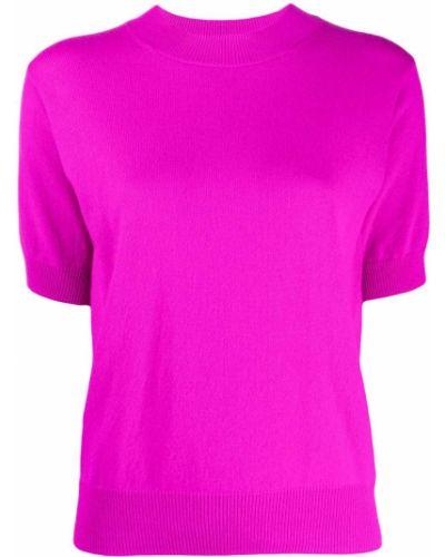 Кашемировый розовый джемпер в рубчик с круглым вырезом Sofie D'hoore