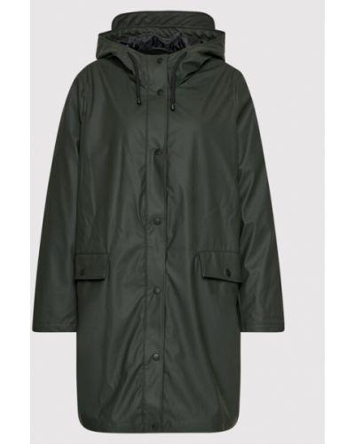 Zielona kurtka przeciwdeszczowa Vero Moda Curve