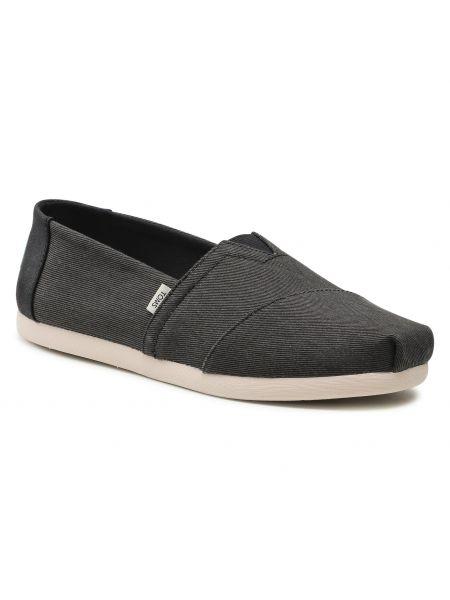 Półbuty casual - czarne Toms