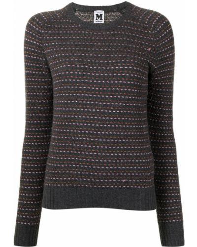 Wełniany sweter z okrągłym dekoltem z mankietami z długimi rękawami Missoni Pre-owned