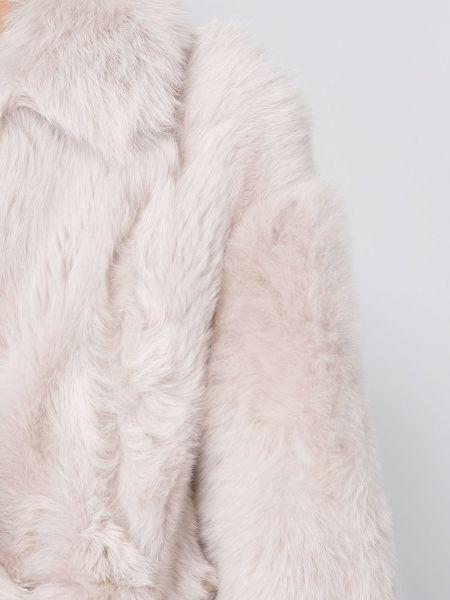 Кожаное длинное пальто оверсайз с капюшоном Blancha