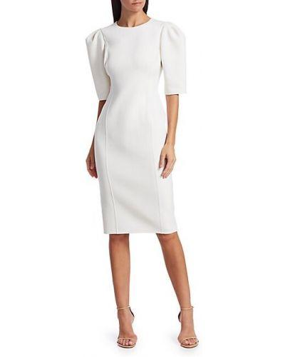 Костюмное шерстяное белое платье миди Michael Kors