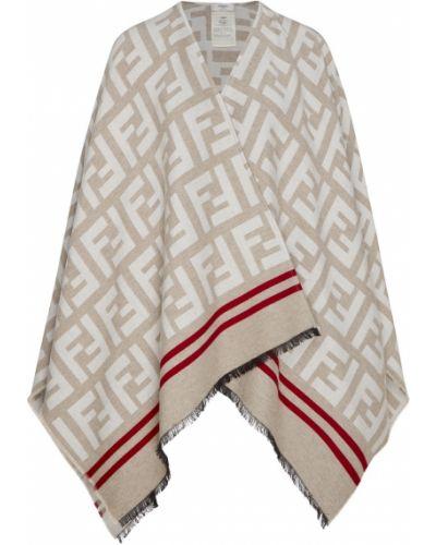 Накидка шелковая с бахромой Fendi