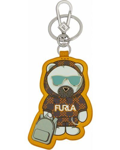 Брелок с логотипом кожаный Furla