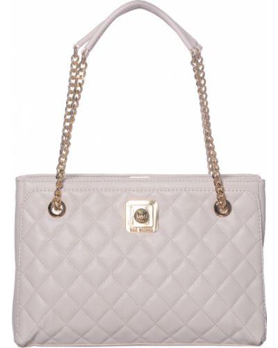 Кожаный сумка с отделениями на молнии Love Moschino