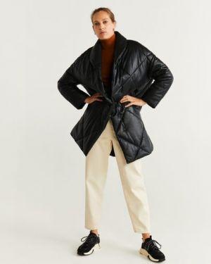 Длинное пальто стеганое на кнопках Mango