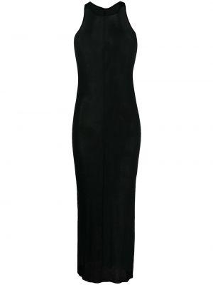 Jedwab czarny sukienka bez rękawów rozciągać Rick Owens