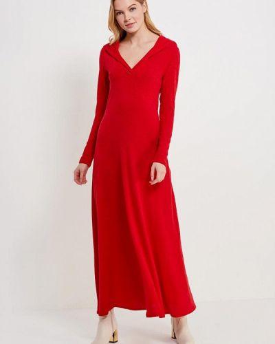 Красное платье с длинными рукавами Alina Assi