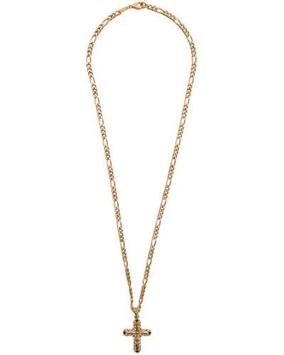 Ожерелье черный золотой Dolce & Gabbana