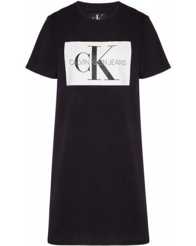 Платье мини футболка с вырезом Calvin Klein