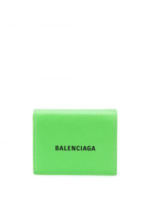 Кожаный кошелек - зеленый Balenciaga