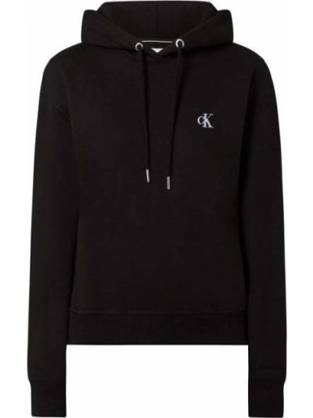 Czarna bluza z kapturem bawełniana Calvin Klein Jeans