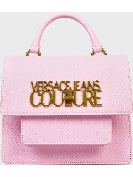 Кожаная сумка - розовая Versace Jeans Couture