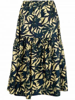 Синяя юбка макси с завышенной талией Ba&sh