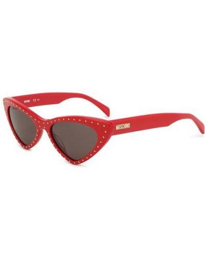 Солнцезащитные очки красный Moschino