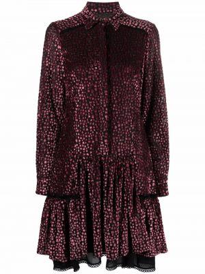 Платье макси длинное - розовое Talbot Runhof