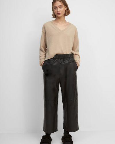 Czarne spodnie skorzane Marc O Polo