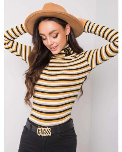 Czarny sweter materiałowy Fashionhunters