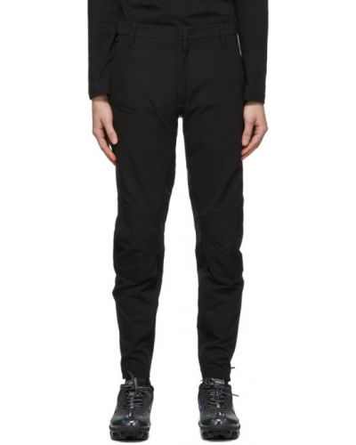 Czarne spodnie z paskiem z nylonu Acronym