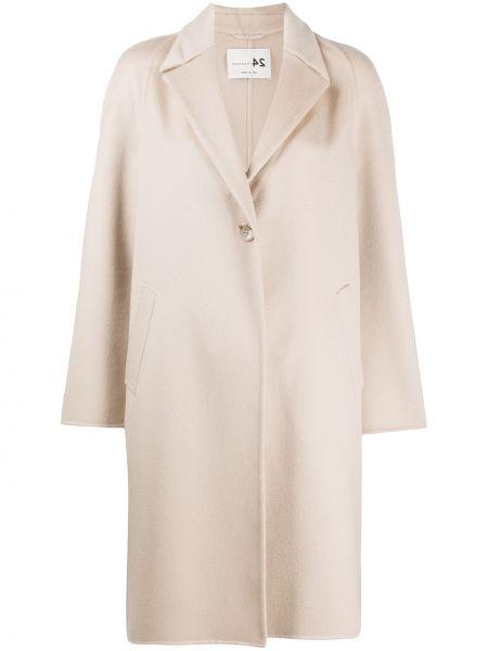 Однобортное приталенное кашемировое пальто классическое Manzoni 24