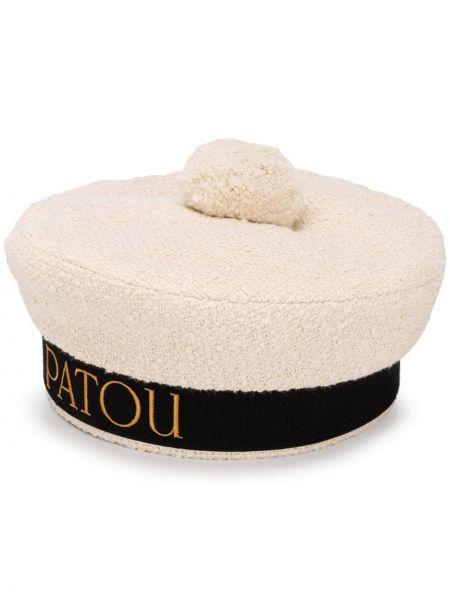 Czarny beret bawełniany Patou