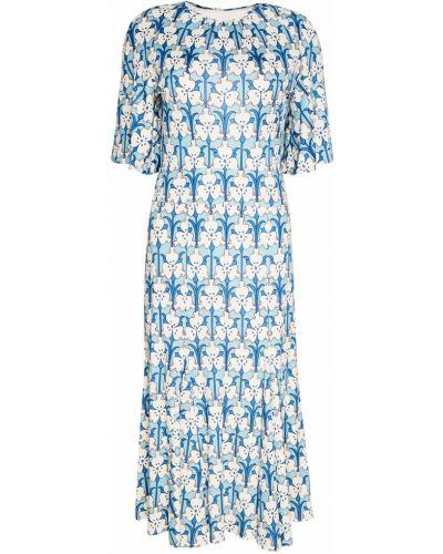 Платье миди шелковое расклешенное Prada