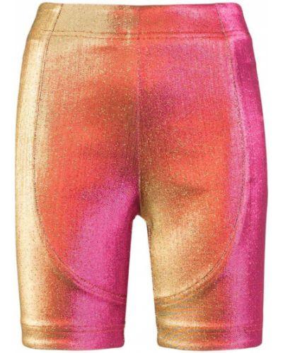 Облегающие розовые шорты металлические Area