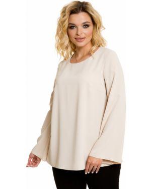 Блузка с рукавом-колоколом шелковая Novita