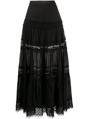 Хлопковая с завышенной талией черная юбка макси Charo Ruiz Ibiza