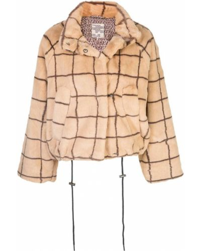 Прямая коричневая длинная куртка из верблюжьей шерсти Baum Und Pferdgarten
