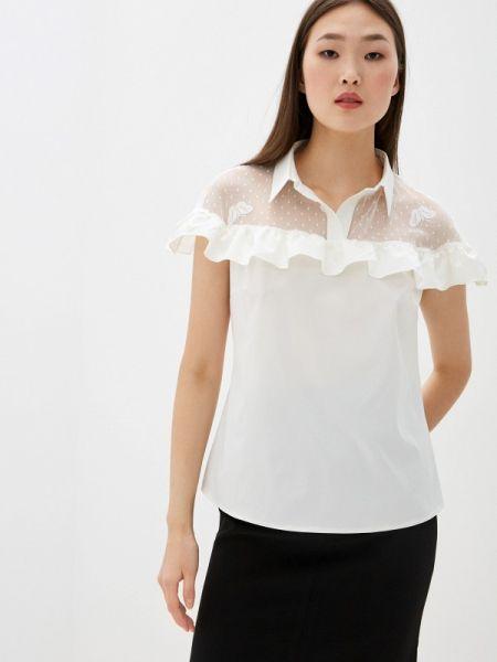 Белая блузка с оборками Am One