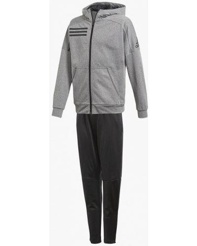 Спортивный костюм серый черный Adidas