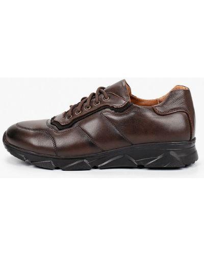 Коричневые кожаные кроссовки Valser