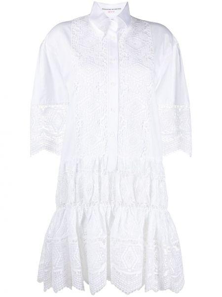 Хлопковая с рукавами белая футболка Ermanno Scervino