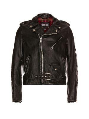 Кожаная куртка винтажная - черная Schott